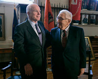 in a rare move, kissinger endorses mccain