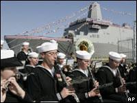 US christens '9/11 steel' warship