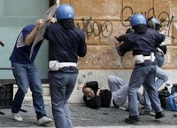 ex-italian prez: provocateur riots then 'beat the shit out of protesters'
