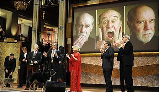 the irony of george carlin being bleeped, posthumously, at awards