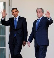 obama: change, but not from bush