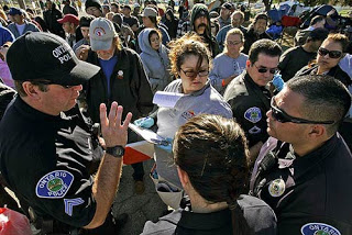 ontario california tent city residents required to wear wristbands
