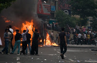 civil unrest in iranian cities after ahmadinejad declares victory