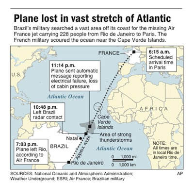 high seas search for air france jet with 228 aboard