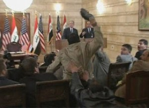 iraqi who threw shoes at bush is released from prison