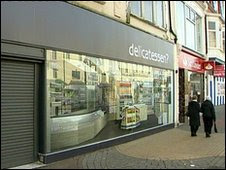 unemployed uk soothed by fake shop fronts
