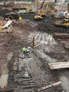 wooden ship from 1700s found at wtc ground zero