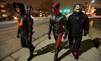 'kick ass': crusaders take page, and outfits, from comics