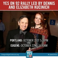 Dennis & Elizabeth Kucinich at Oregon's Yes On 92 Rally