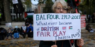 Balfour Declaration - Challenging Theresa May on Palestine