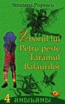 """Coperta ediției electronice a celui de-al patrulea roman al seriei Andilandi: """"Zborul lui Petru peste Tărâmul Balaurilor"""""""