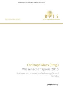 Christoph Moss Wissenschaftspreis 2015