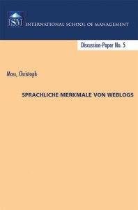 Christoph Moss Buch Sprache Weblogs