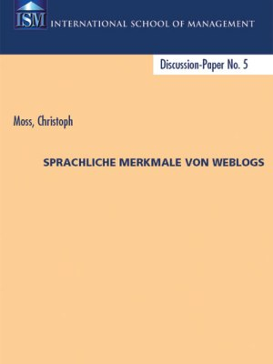 Christoph Moss Buch Sprache Weblogs