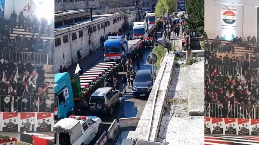 """بالشاحنات: ميليشيا """"لواء القدس"""" تشيّع 46 عنصراً غربي حلب"""