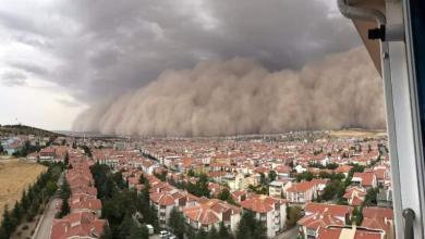 توقعات حول عاصفة رملية ستضرب الأراضي التركية