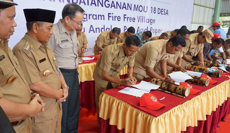 april provinsi riau bebas api 2017