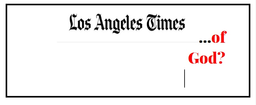 Los Angeles Times God