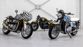 Legendary Artist D*Face Designed Three Custom Motorcycles for Triumph