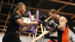 Using his noodle: Jeff Horn is banking on a coathanger and foam pool toys to deliver the upset