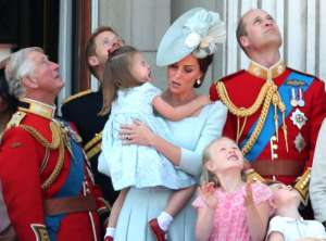 Kate Middleton Catches Princess Charlotte as She Falls on Buckingham Palace Balcony