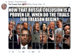 Donald Trump Shares Meme Showing Obama, Clintons Behind Bars For Treason