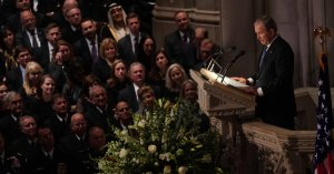Video and Full Transcript of George W. Bush's Eulogy for His Father