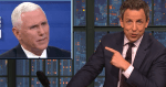 Seth Meyers Issues Scathing Warning About Mike Pence: 'As Slippery Of A Liar' As Trump