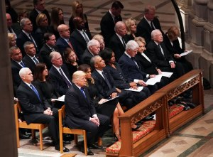 In Funeral of Pomp and Pageantry, Nation Bids Farewell to George Bush