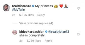 Tristan Thompson Calls Daughter True 'My Twin' and Khloe Kardashian Agrees