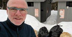 Oregon Governor's Husband Cleans Up National Forest Loos, Bills Trump