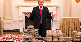 'Photoshop Battle' Breaks Out Over Donald Trump's Fast-Food Banquet For Athletes