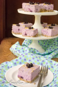 Sugar-Free Low Carb Blueberry Cream Pie