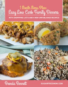 Low Carb Family Dinners 1 Month Menu Plan Ebook