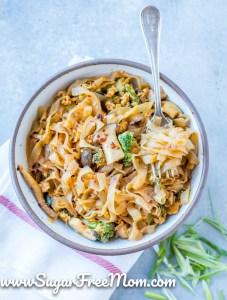 Keto Spicy Thai Noodle Bowl