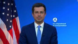 Transportation Secretary Buttigieg and another official gave wrong estimates of how many jobs the plan would create