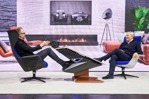 Munich (GER), 5th December 2020. BMW SIM Live, event, show, BMW Welt, Fusion SL Concept, Michael Scully, Ernst Holzapfel.