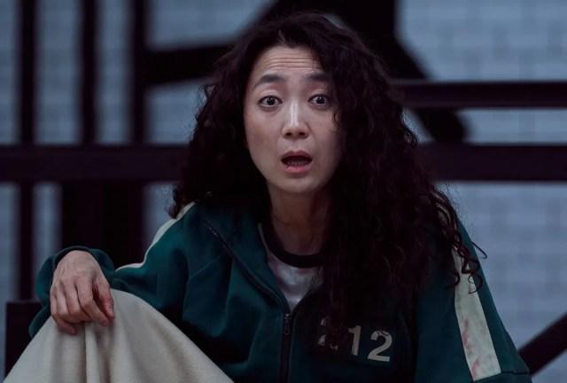 "Kim Joo-ryung as Han Mi-nyeo in ""Squid Game"" (Netflix/YOUNGKYU PARK)"