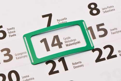 okienka do kalendarzy - przewlekane