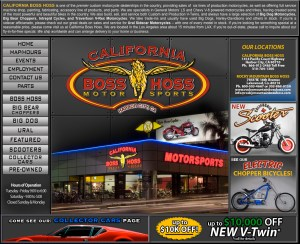 California Boss Hoss - Website Design