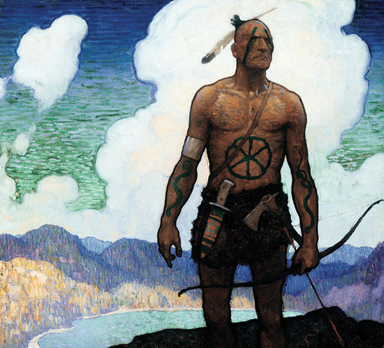 Cover Illustration for The Last of the Mohicans, N.C. Wyeth (1919)