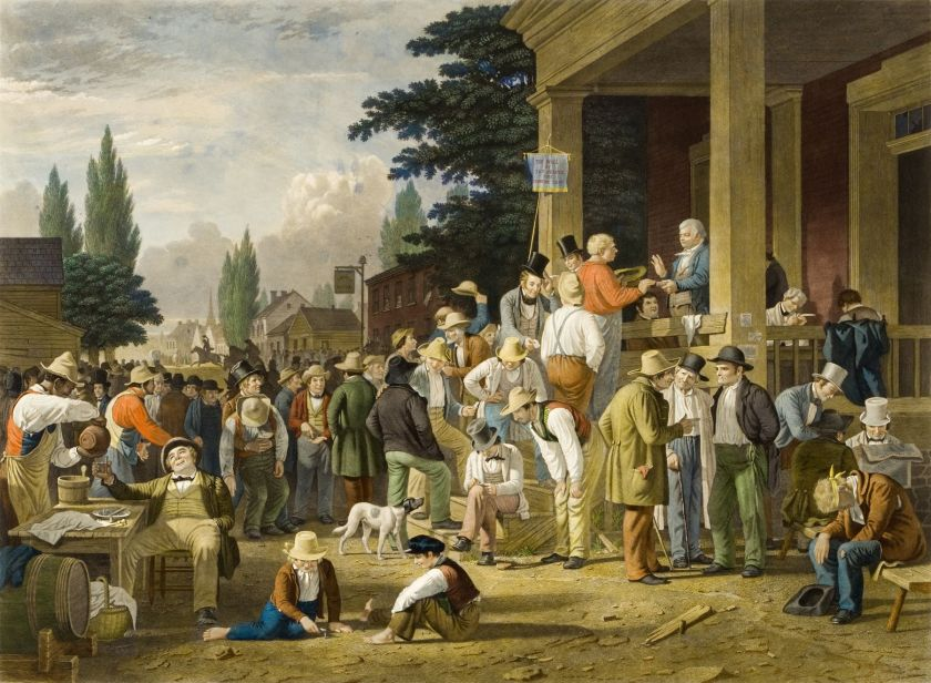 County Election, George Caleb Bingham (1852)