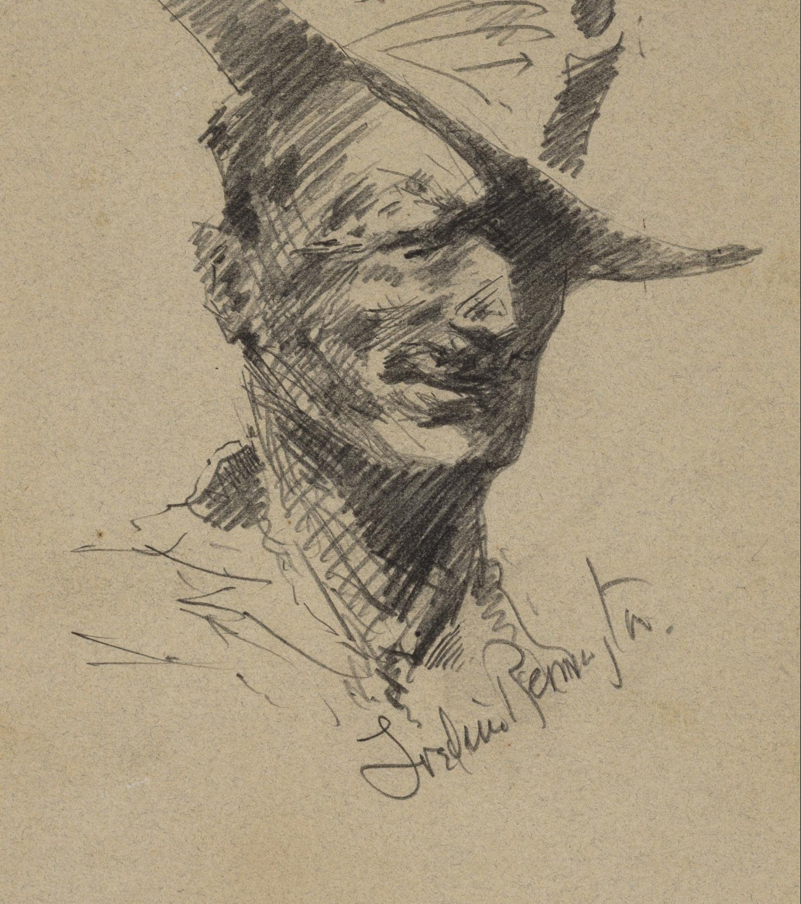 Frederick Remington, Self Portrait