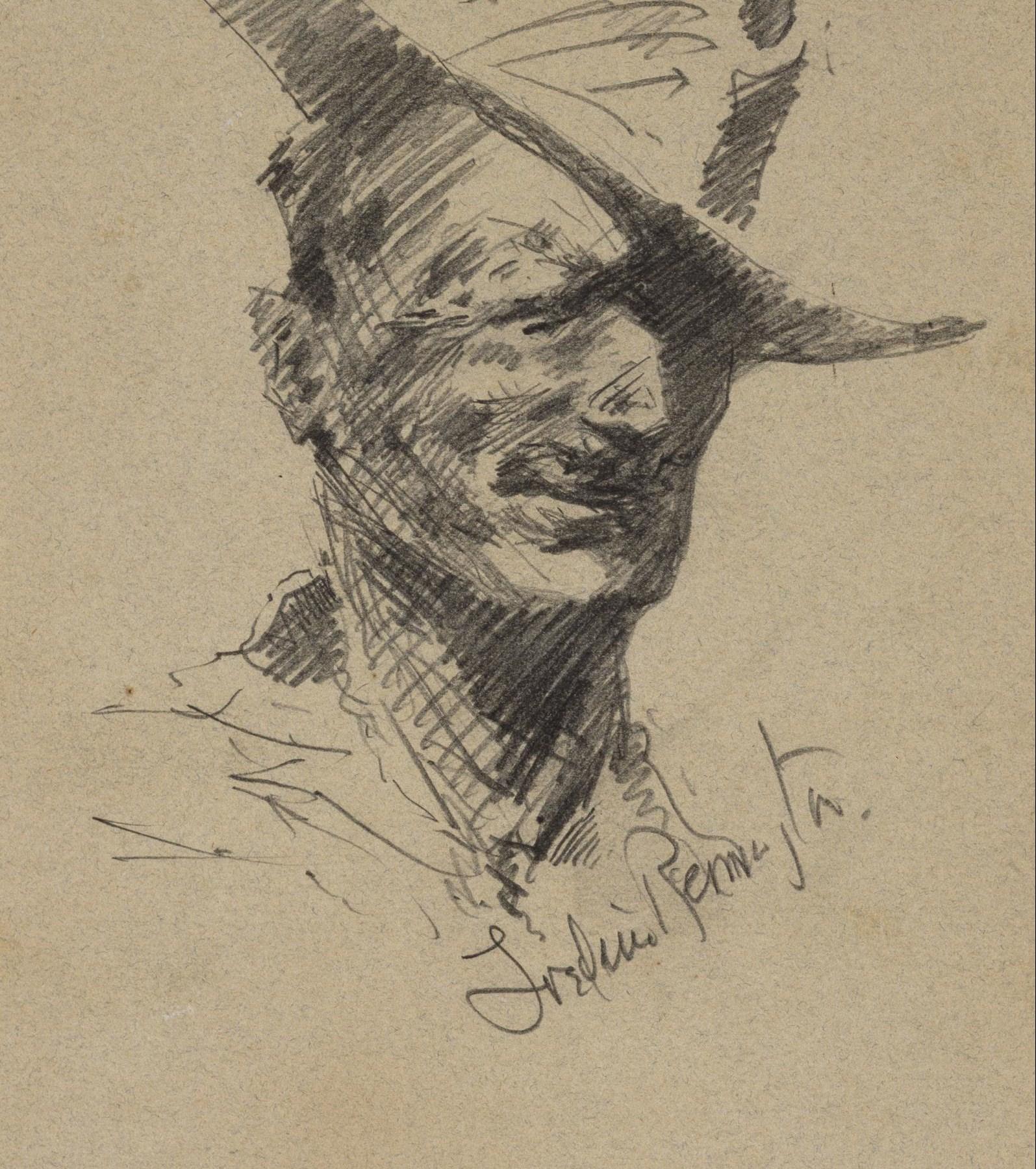 Frederick Remington, Self Portrait