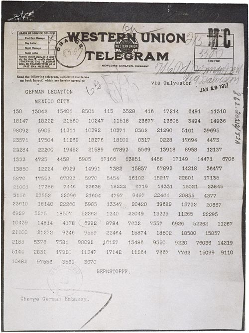 Zimmermann Telegram - front
