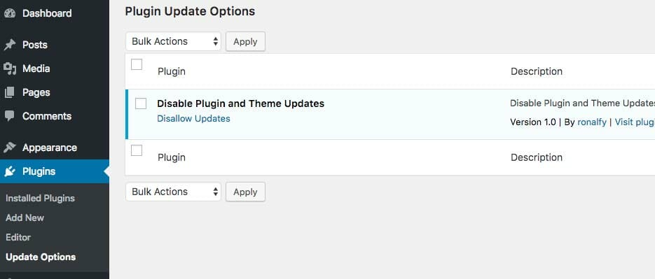 Custom Plugin Plugins Screen
