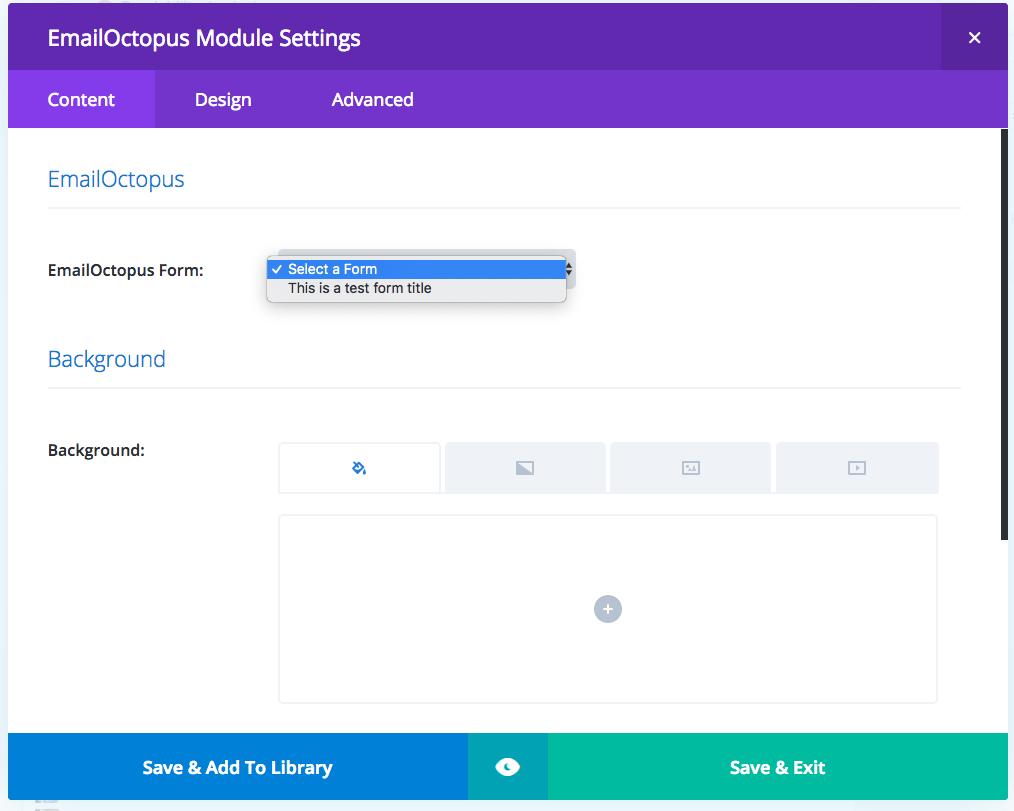 Divi Block Options