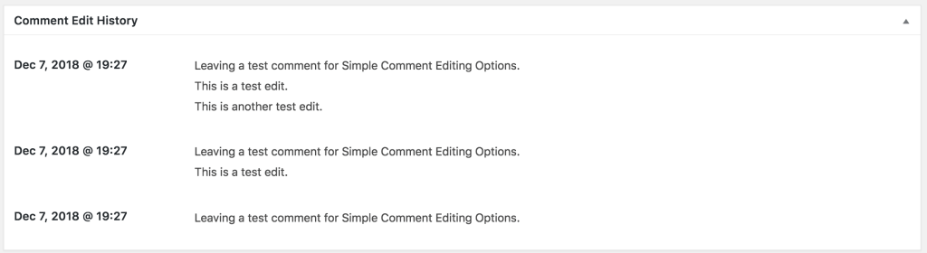 Comment Edit History