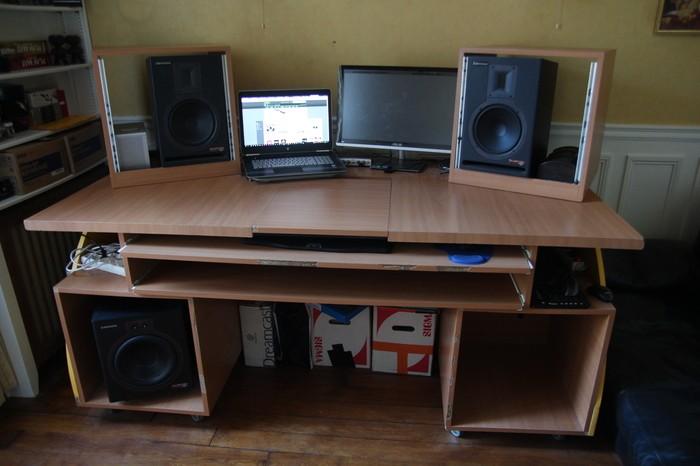 grand meuble home studio sur mesure