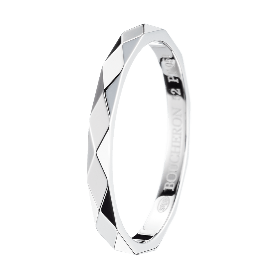 Facette Platinum Small Wedding Band Boucheron